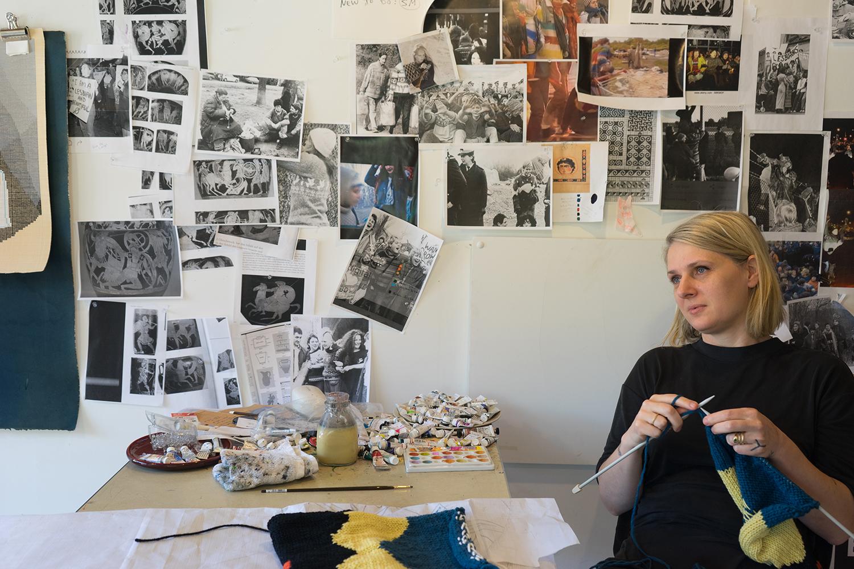 Ellen Lesperance knitting