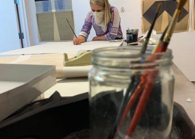 Ellen Lesperance in Tamarind's artist studio.