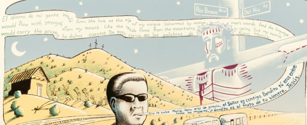 Detail of print by Eric Garcia