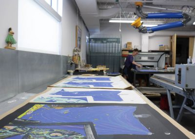 Paula Wilson's print being editioned