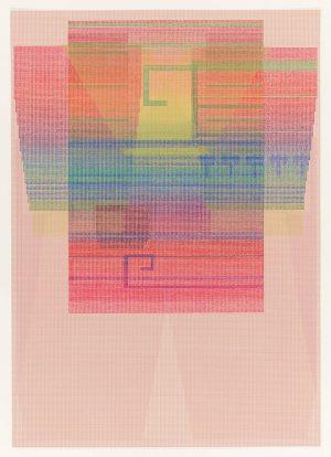 Thirteeen-color lithograph by Ellen Lesperance.