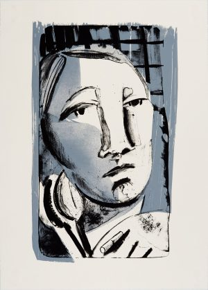 Two-color lithograph by Danielle Orchard.