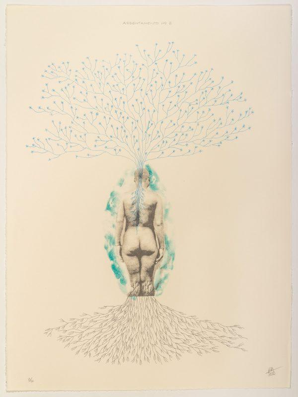 Lithograph by Rosana Paulino