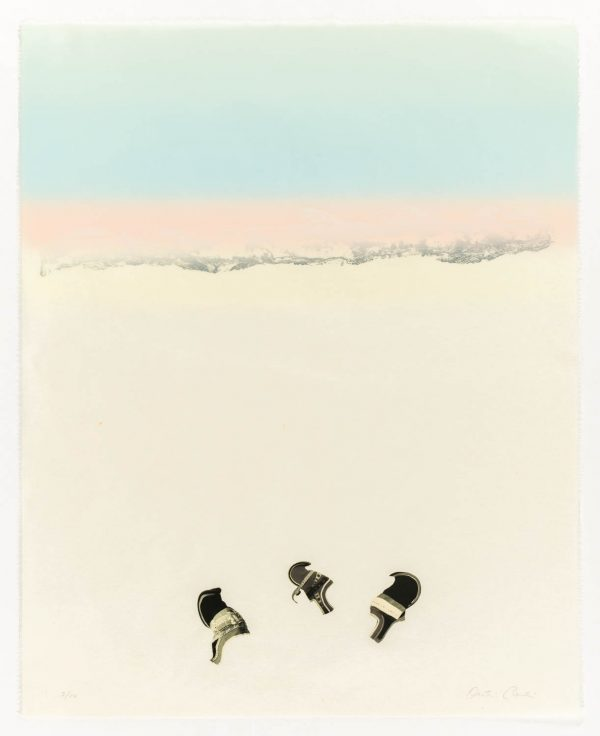 Six-color lithograph with chine collé by Outi Pieski.