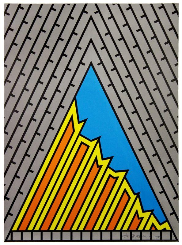 Five-color lithograph by Nicholas Krushenick