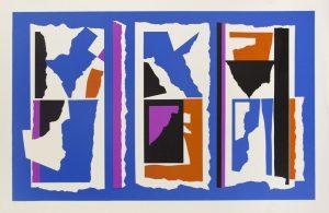 Four-color lithograph by Clinton Adams