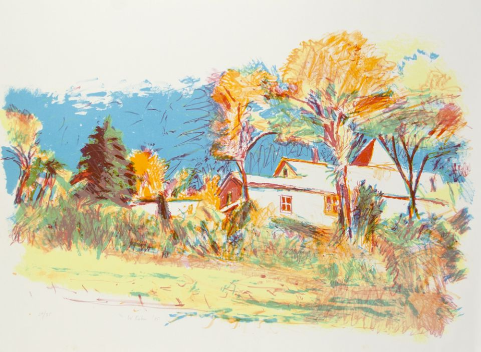 Six-color lithograph by Wolf Kahn.