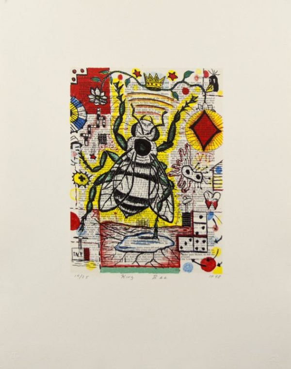 Five-color lithograph by Tony Fitzpatrick.