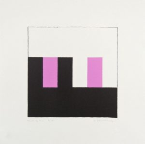 Two-color lithograph by Frederick Hammersley.