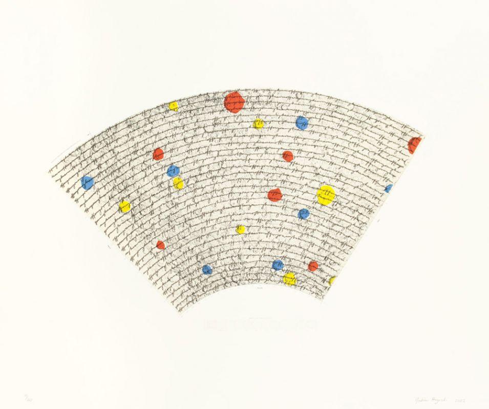 Six-color lithograph by Yoshimi Hayashi.