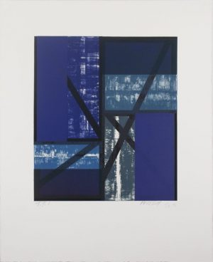 Seven-color lithograph by Charles Arnoldi.