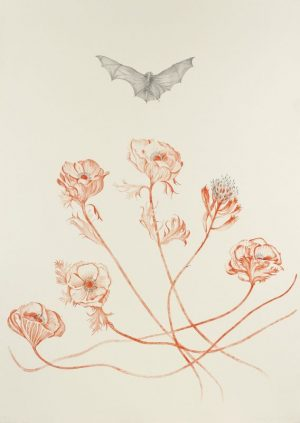 Two-color lithograph by Valerie Hammond