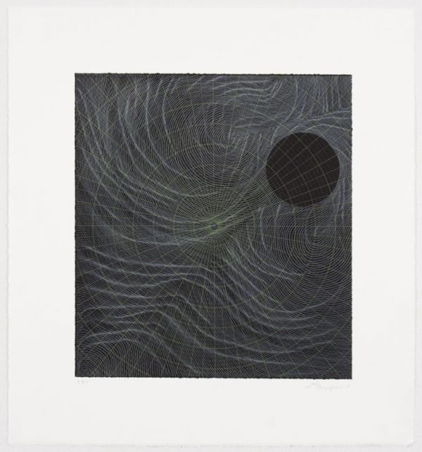 Three-color lithograph by Linn Meyers.