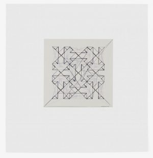 Three-color lithograph with chine collé by Matthew Shlian.