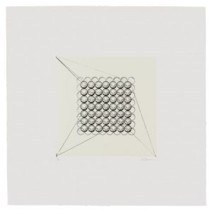 Two-color lithograph with chine collé by Matthew Shlian.