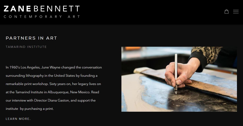 Zane Bennett Partners in Art Program