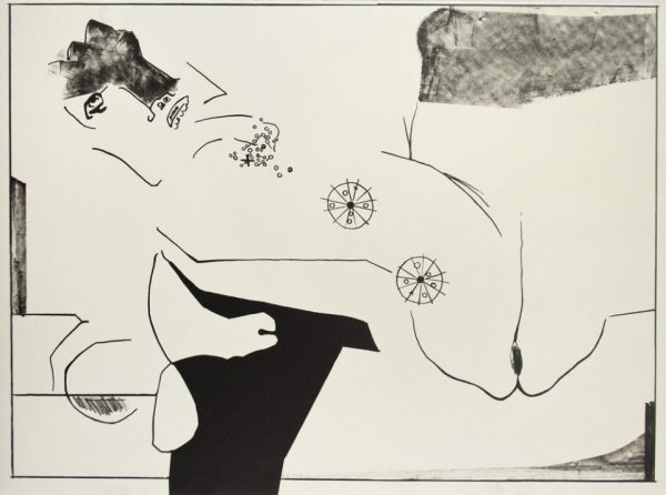 Single-color lithograph by David Hare.