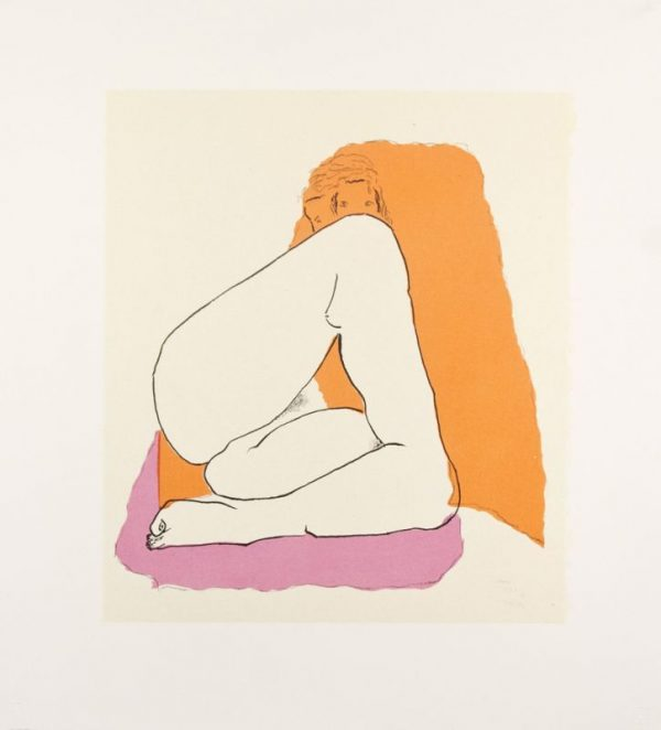 Three-color lithograph by David Hare.