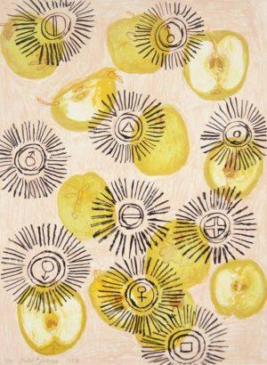 Five-color lithograph by Roberto Juarez.