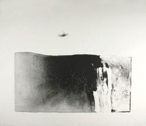 Single-color lithograph by Joy Laville