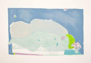 Eight-color lithograph by Joy Laville