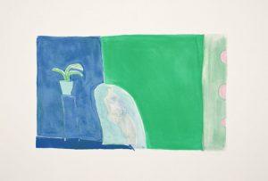 Nine-color lithograph by Joy Laville