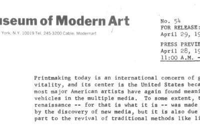 Tamarind: Homage to Lithography at MOMA
