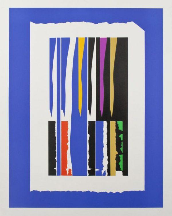Seven-color lithograph by Clinton Adams